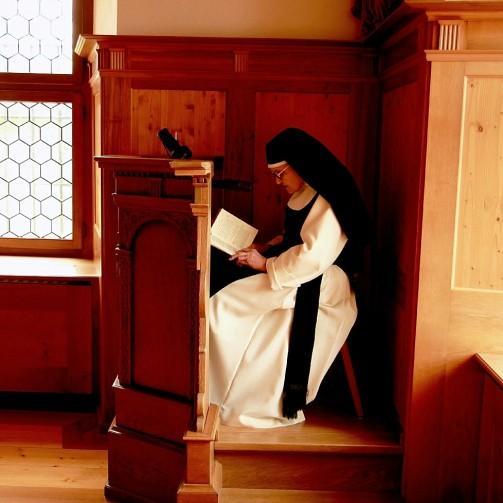 Nonne bei der Lesung, Kloster Frauenthal